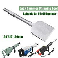 1pc 65A 30x410x130mm Jackhammer Breaker Chisel Tile Chipper Cutter Extra Wide Jack Hammer Drill Tool
