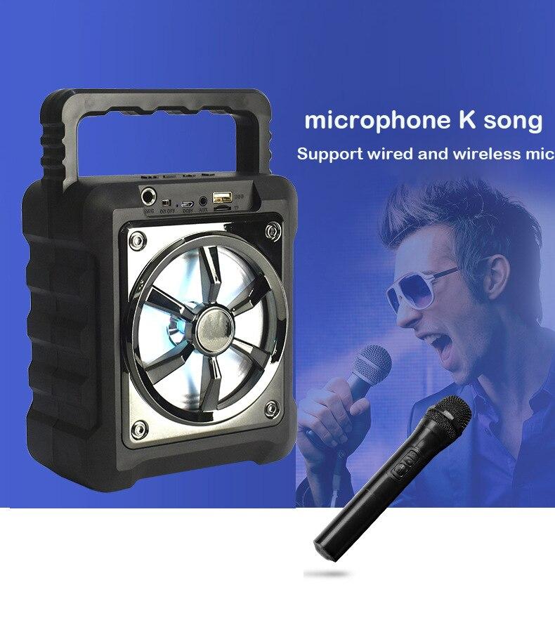 Беспроводной bluetooth динамик портативный звуковой ящик бас стерео сабвуфер Поддержка USB/TF карты/AUX/FM радио с микрофоном для ПК ТВ телефона