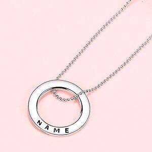 Image 2 - Collier en argent Sterling 925 avec cercle personnalisé personnalisation collier nom gravé cadeau saint valentin