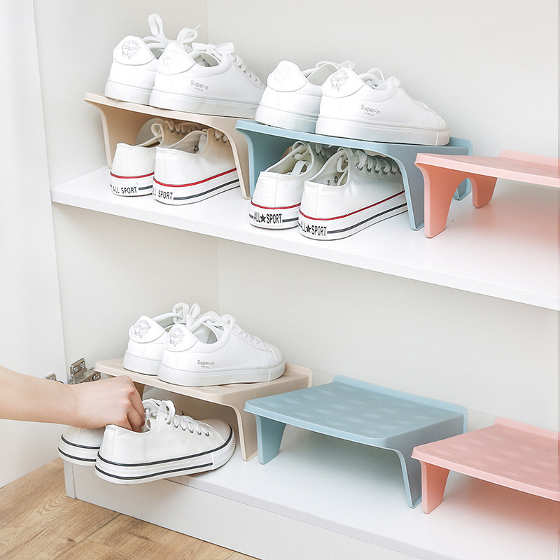 1Pcs Simple Double Adjustable Shoe Rack Home Storage Cabinet Shoe Rack Creative Dustproof Storage Shoe Rack Home Small Shoe Rack