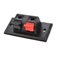 5pcs Audio Speaker Terminals Panel Connector Red Black 2 Positions Push In Jack Spring Load Square Design Speaker Terminal Plate 5 pcs 4 pins spring loaded push type speaker terminal board 64x25mm
