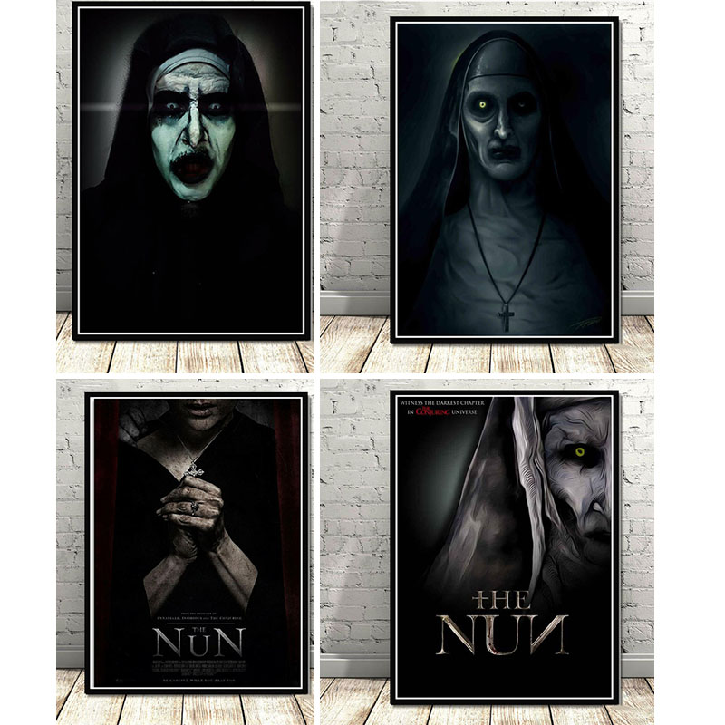 The Nun Classic Horror poster diamond painting 5D DIY cross stitch Full circle square diamond embroidery set home decoration-0