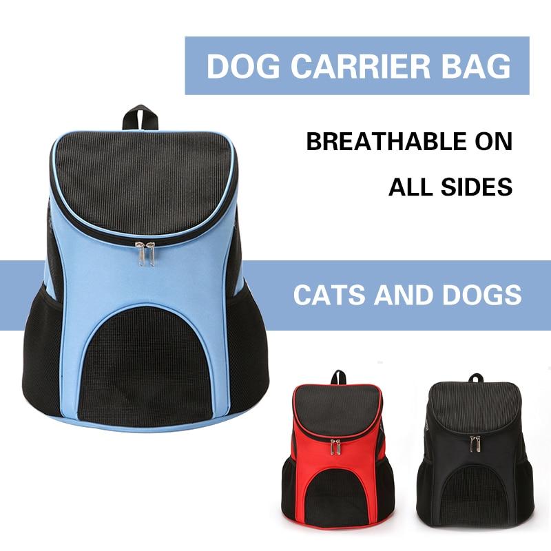 Foldable Pet Carrier Backpack Portable Dog Cat Outdoor Travel Carrier Packbag Breathable Mesh Pet Out Bag Cat Backpack