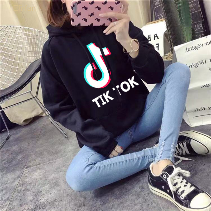 EFIRFAN Moleton Feminino Felpa Donna Tik Tok Hoodie Survetement Femme Oversized Sweatshirt Womens Hooded Hoodies Moletom Cropped