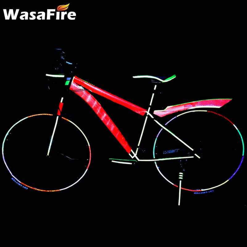 100*5 سنتيمتر عاكس دراجة ملصقا عجلة الدراجة المتحدث لاصق ملصقات السلامة الدراجات اكسسوارات