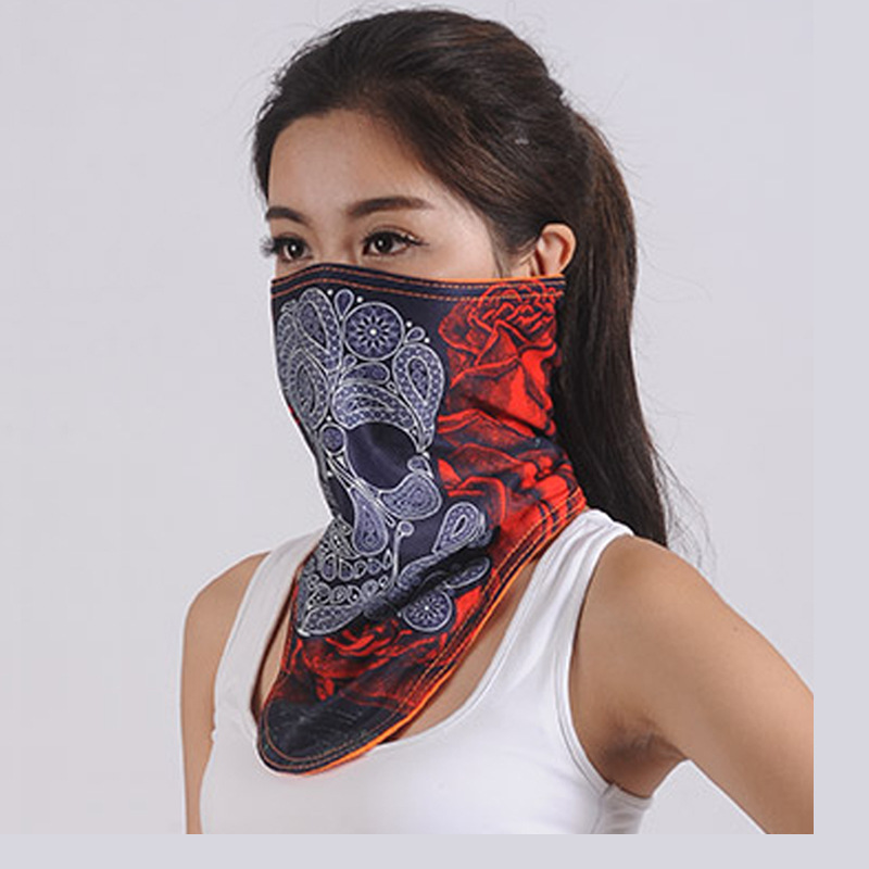 Skiing Riding Sun-resistant Dustproof Windproof Face Mask Warm Breathable Mask Care Face Neck Guard Mask Outdoor Face Shields