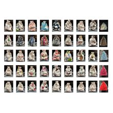 100 stuks Katoenen Tassen Voor Gift Doek Zakken Koord Printing Multicolor Vintage Sack Jute Gift Bag Wedding Party Pouch Jute tas