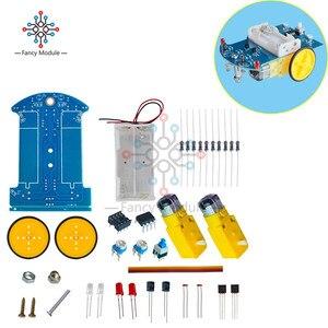 Image 5 - D2 1 스마트 로봇 자동차 키트 추적 자동차 감광성 로봇 부품 DIY 전기 장난감