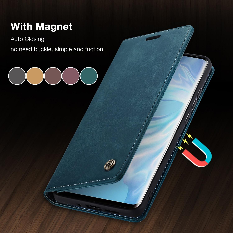 CaseMe Ретро Флип-кейс для Huawei P40 P30 P20 lite Роскошные визитная карточка с полным покрытием для Huawei мат 30 Pro P Smart бумажник чехол