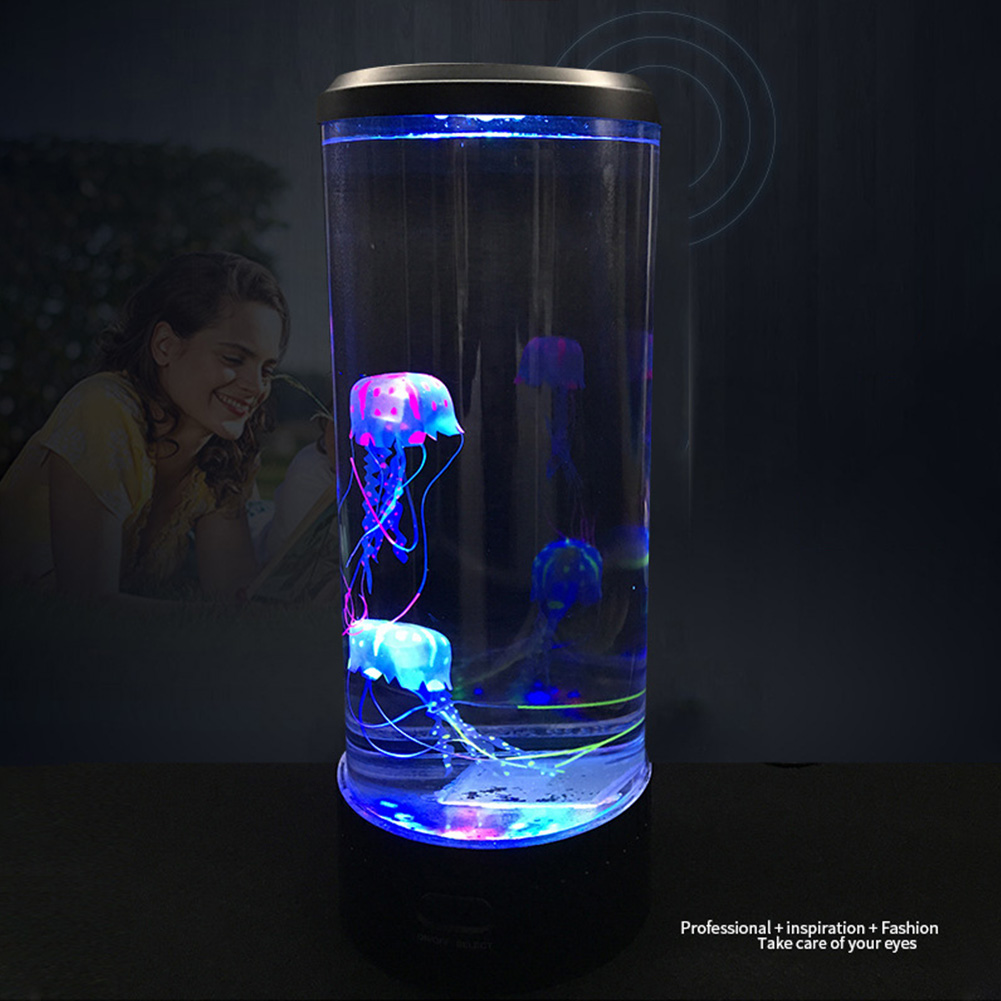 LED Night Light Hypnotic Jellyfish Color Changing Aquarium Atmosphere Bedside Lamp Table Home Decoration Fantasy Desktop Childen