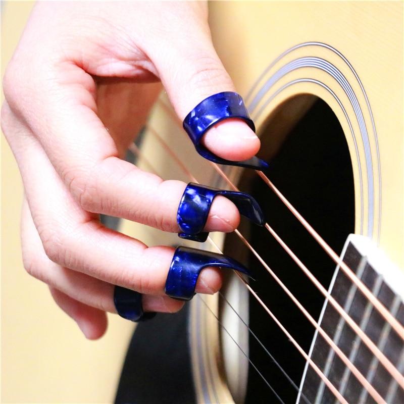 1/3PCS Thumb Finger Guitar Picks Celluloid Mediator Guitar Plectrums Picks Bass Acoustic Guitar Electric Guitar Accessories