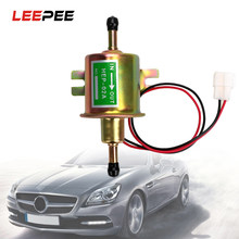 LEEPEE Fuel Pump For Car Carburetor Motorcycle ATV HEP-02A Low Pressure Bolt Fixing Wire Diesel 12V Electric Petrol Pump(China)