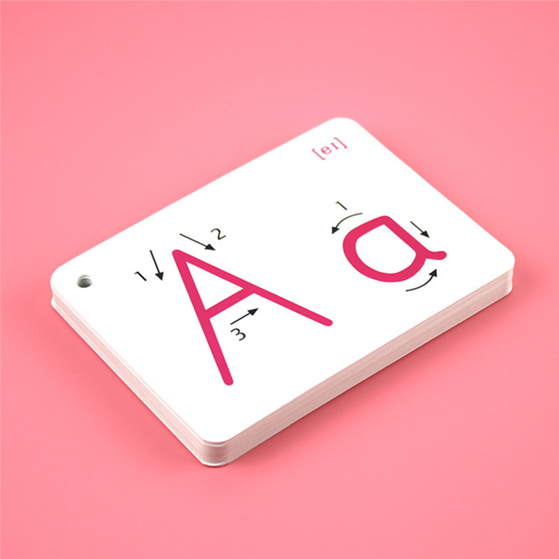 26 Letter English Flash Card Handwritten Montessori Early Development <font><b>Learning</b></font> Educational <font><b>Toy</b></font> <font><b>For</b></font> <font><b>Children</b></font> Kid Gift With Buckle image