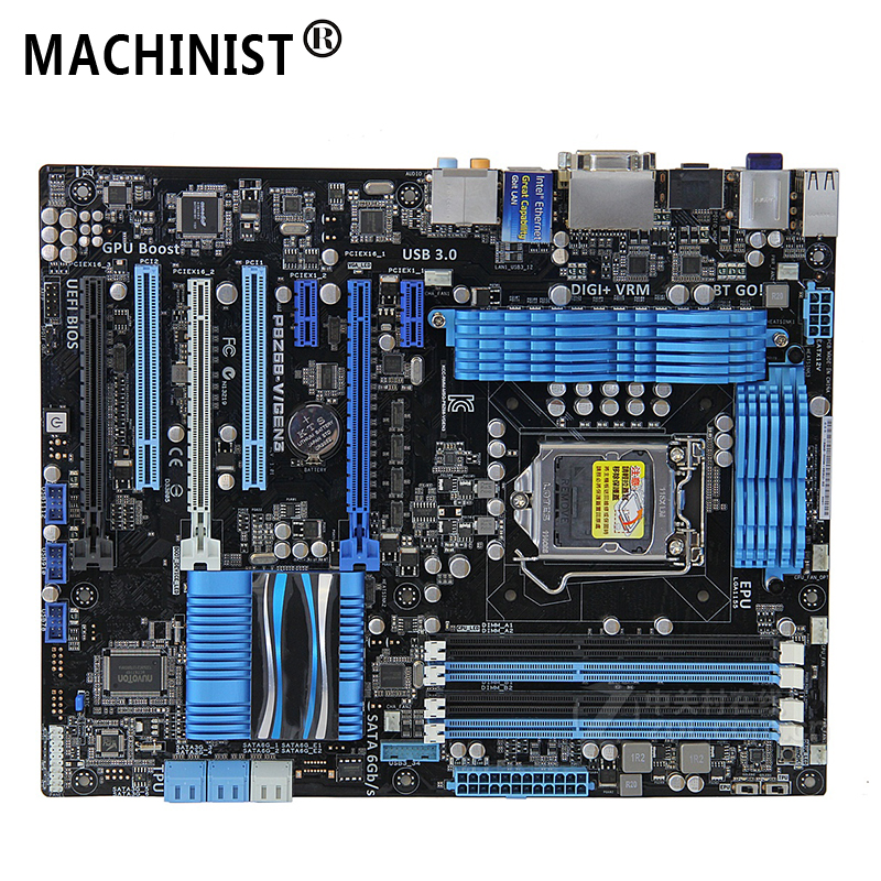Original For ASUS P8Z68-V/GEN3 Desktop motherboard Z68 LGA 1155 ATX DDR3 32GB SATA3.0 USB3.0 PCI-E 3.0 100% fully Tested