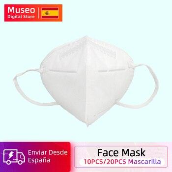 10 pièces/20 pièces masque facial 5 couches Anti PM2.5 masque Anti-poussière de sécurité masque respirant