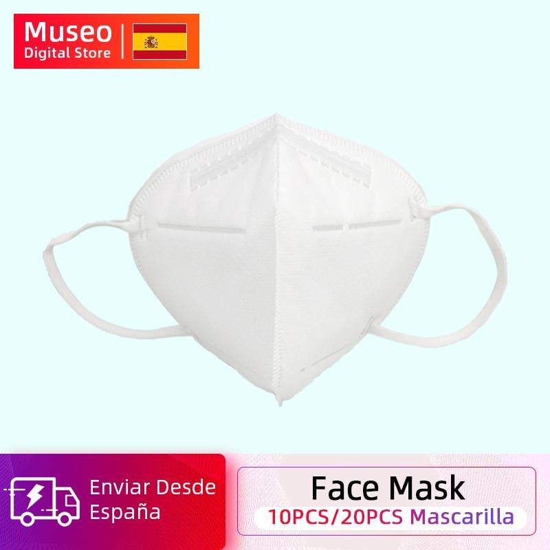 10pcs/20pcs Face Mask 5 Layers Anti PM2.5 Safety Dustproof Mask Breathable Face Mask Fast Ship