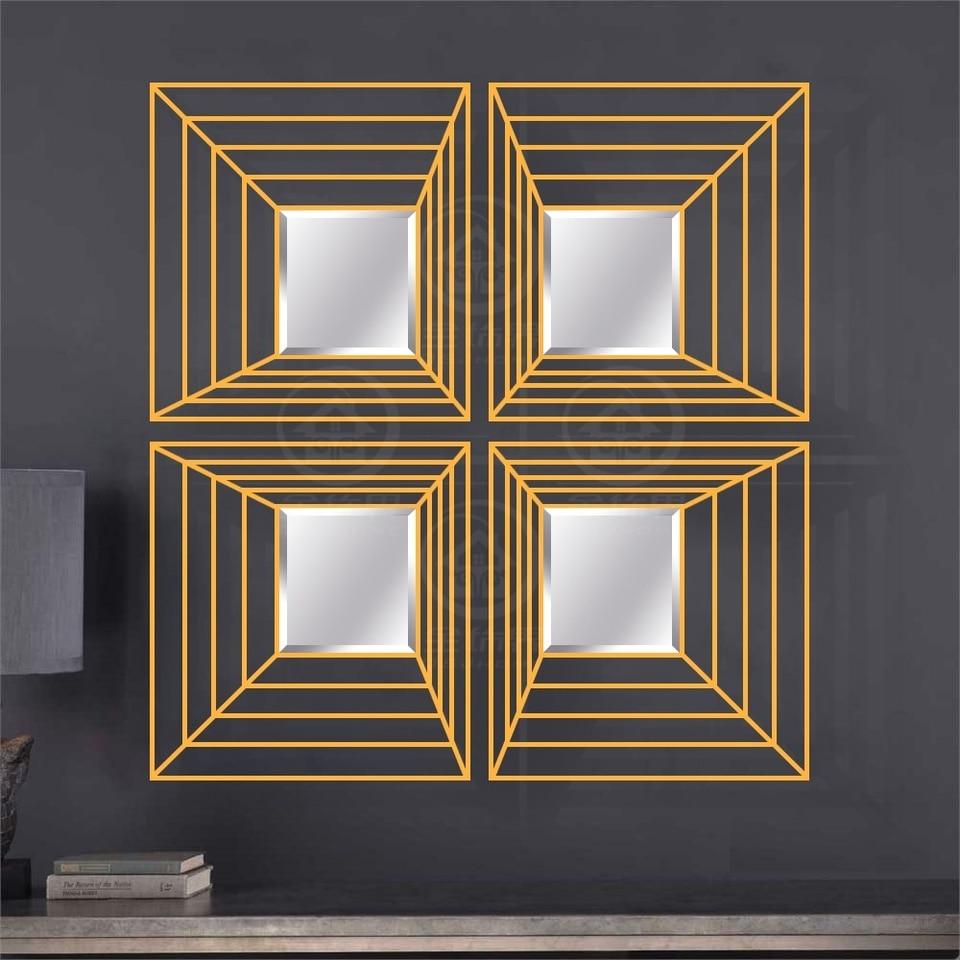 Wall Art Mirror Abstract Decor