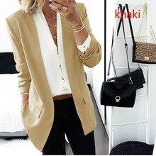 Black Women Blazer 2019 Formal Blazers Lady Office Work Suit  Jackets Coat Slim Solid Casual Women Blazer Femme Jackets adogirl women suit black casual blazer