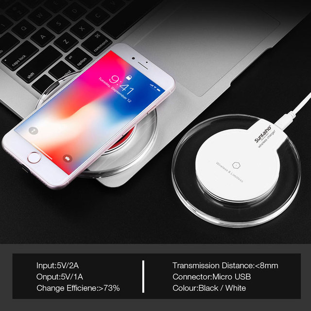 Suntaiho Qi Wireless Charger 5W Phone Charger Wireless Fast Charging Dock Cradle Charger for iPhone samsung xiaomi huawei P30 4