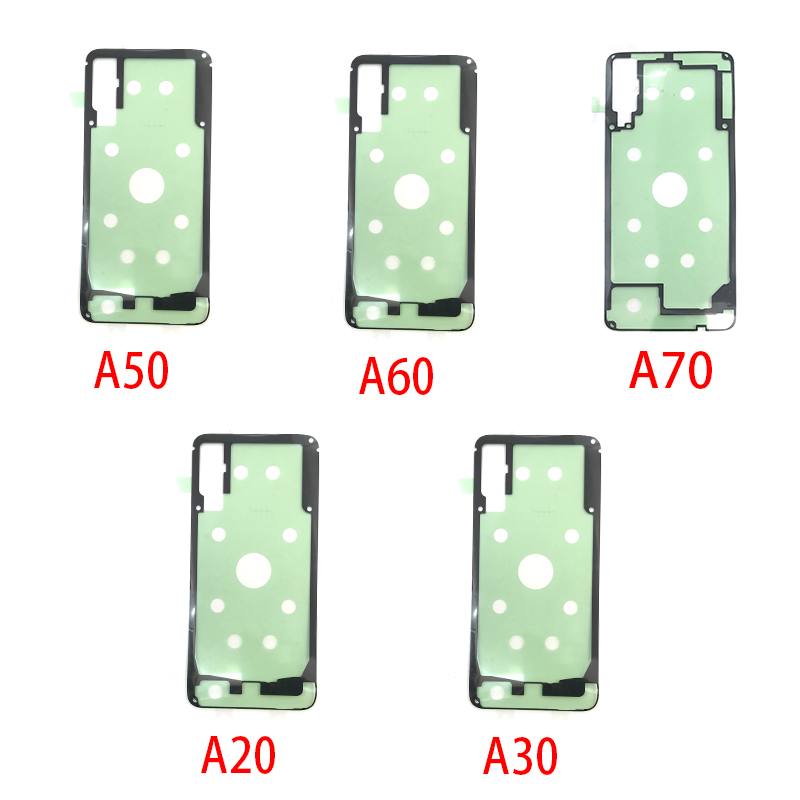 2Pcs/Lot, Adhesive Sticker Back Housing Battery Cover For Samsung  A10 A20 A30 A50 A60 A70 Replacement Part