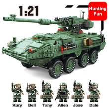 1672Pcs 3in1 KAZI KY10001 Creator Century Military MGS-M1128 TANKS Armored Vehicles Model Building Blocks Bricks Toys Kids Boys