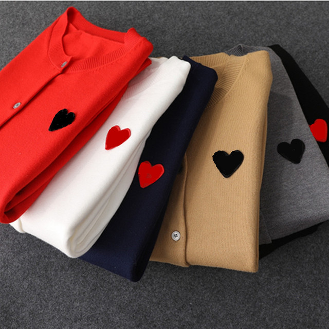 (have eyes)Spring Autumn Lover Couple  Cashmere sweater Love pattern Brand New Women Men Knitted Cardigan SweaterFashion Top 1