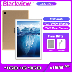 Blackview Tab 8 Dual 4G Phone Call Tablet PC Android 10.0 4GB + 64GB 10.1inch 1200*1920 13MP Rear Camera 6580mAh Tablets Phone
