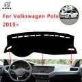 PNSL غطاء لوحة سيارة داش حصيرة داش الوسادة السجاد ل Volkswagen بولو 2019 الشمس حماية مكافحة زلة المضادة للأشعة فوق البنفسجية