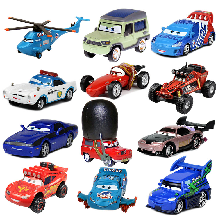 Disney Cars Lightning McQueen All Styles Pixar Cars 2 3 Race Team Mater Metal Diecast Toy Car 1:55 Loose Disney Cars2 And Cars3