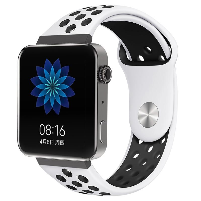 Мягкий силиконовый ремешок для часов для xiaomi smart watch, новинка, сменный ремешок для mi watch, резиновый ремешок для часов, аксессуары - Цвет: 8059