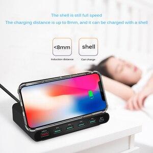 Image 5 - Беспроводное зарядное устройство Qi, 60 Вт, базовая Зарядка для Iphone X XS MAX, мульти USB, зарядное устройство для мобильного телефона, быстрая зарядка 3,0 для Samsung S9 S8