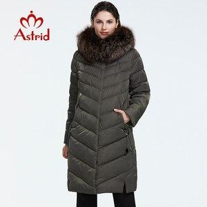 Image 1 - Astrid 2019 Winter neue ankunft unten jacke frauen mit einem pelz kragen lose kleidung oberbekleidung qualität frauen winter mantel FR 2160