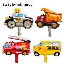 Inflatable-Toy-Ball Birthday-Party-Decoration School-Bus Aluminum-Foil-Balloon Big-Truck