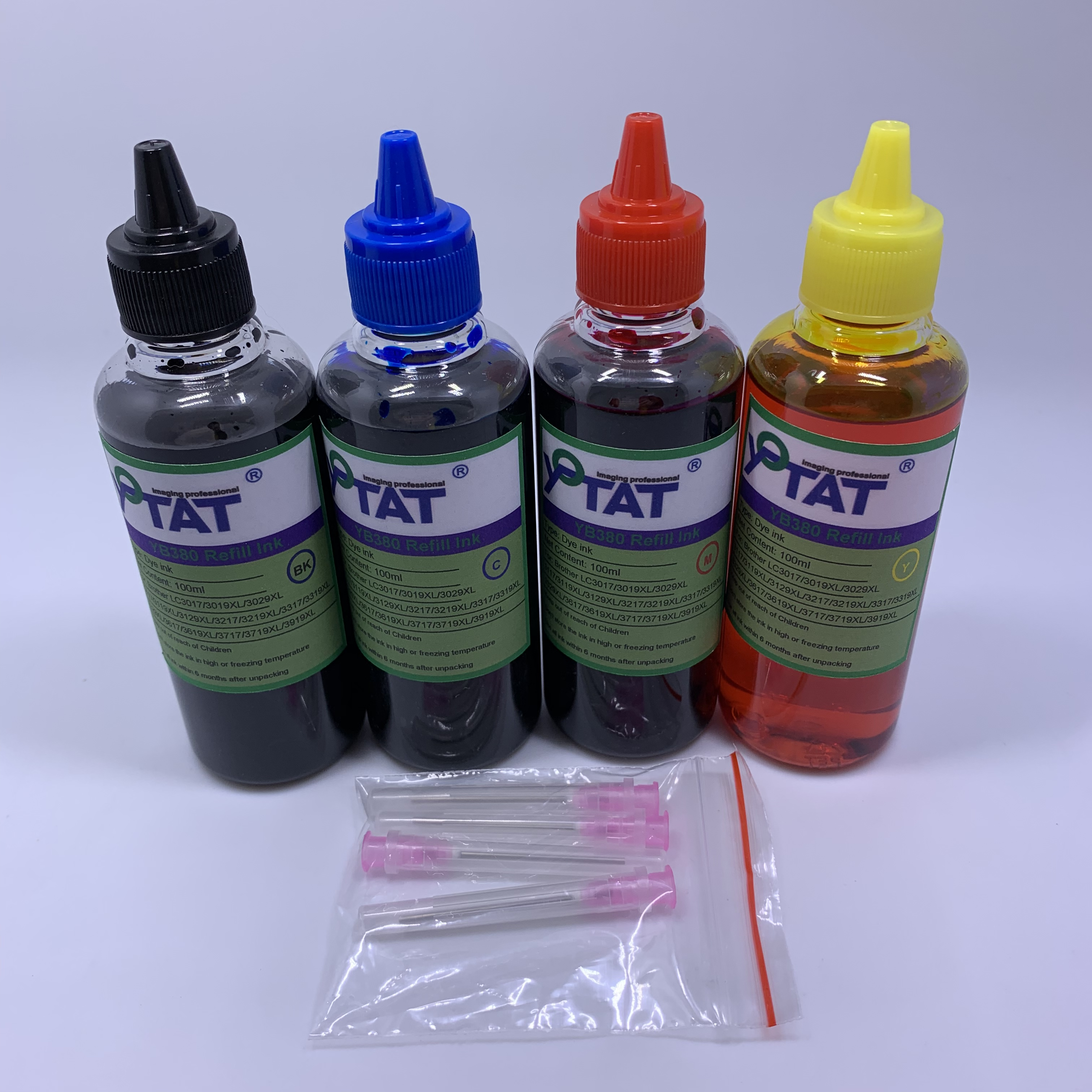 YOTAT 4*100ml Dye Ink for Brother LC3019 LC3017 LC3029 LC3219 LC3217 LC3119 LC3319 LC3329 LC3619 LC3617 Ink cartridge or CISS