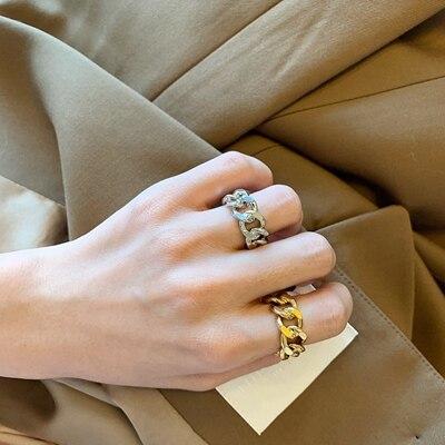 Hdf4a7a3c89614fd39b61a6eaa3126667k 1PC 2020 Fashion Golden Metal Rings for Women