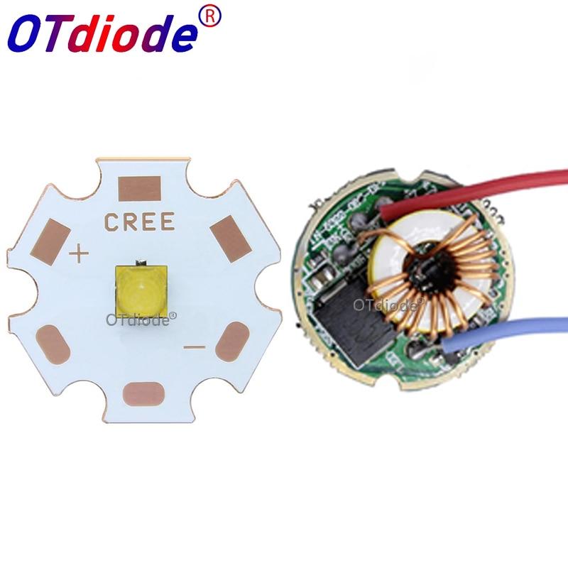 Cree XPL2 XPL2 10W High Power LED Emitter Cool White Diode 16/20mm PCB+17mm/22mm DC3.6V  Driver For Sopt Flashlight Parts DIY