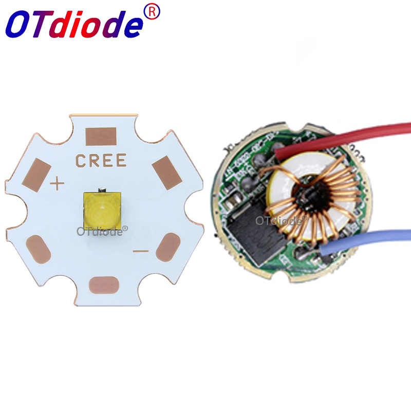 Cree XPL2 XPL2 <font><b>10W</b></font> High Power <font><b>LED</b></font> Emitter Cool White Diode 16/<font><b>20mm</b></font> PCB+17mm/22mm DC3.6V <font><b>Driver</b></font> For Sopt flashlight parts DIY image