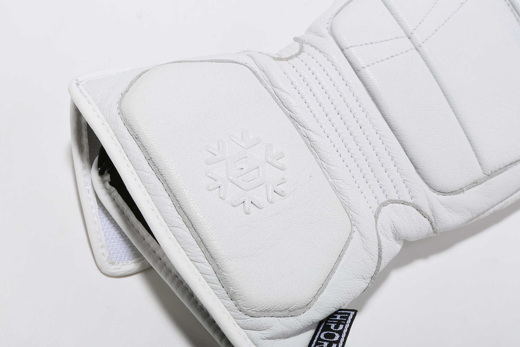 Keçi deri kayak eldivenleri LDSKI snowboard eldiveni başparmak parmak termal astar koruyucu yastıklı deri doğa kapma