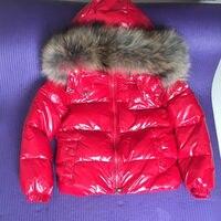Kids Winter Down Jacket Natural Fur Collar Toddler Clothing Children 90% Duck Down Warm Outerwear Baby Boys Girls Snow Coat