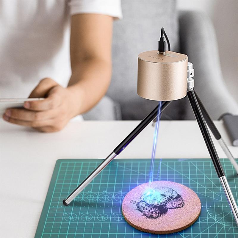 1.6W 5V Mini Engraving Machine Safe Compact Desktop Laser Engraver Laser Cutter Security Printer DIY Wood Router