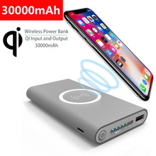 30000mAh Portable Qi Wireless Charger Power bank For iPhone