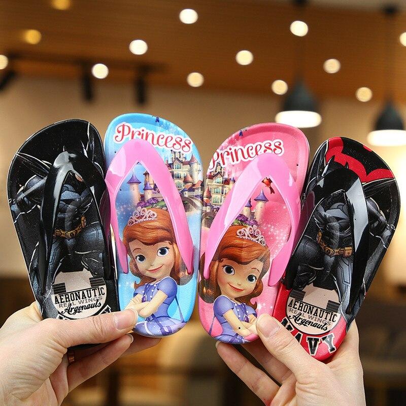 Unicorn Kids Flip Flops Cartoon Outdoor Girls Slippers Toddler Non-slip Children Home Shoes Summer Boys Beach Shoes Zapatillas
