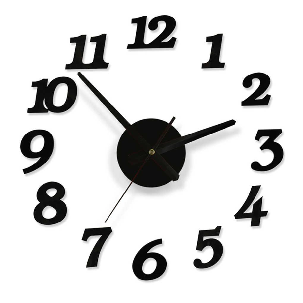 ساخنة جديدة لتقوم بها بنفسك ساعة حائط ثلاثية الأبعاد لاصقة تزيين المنزل مكتب ديكور