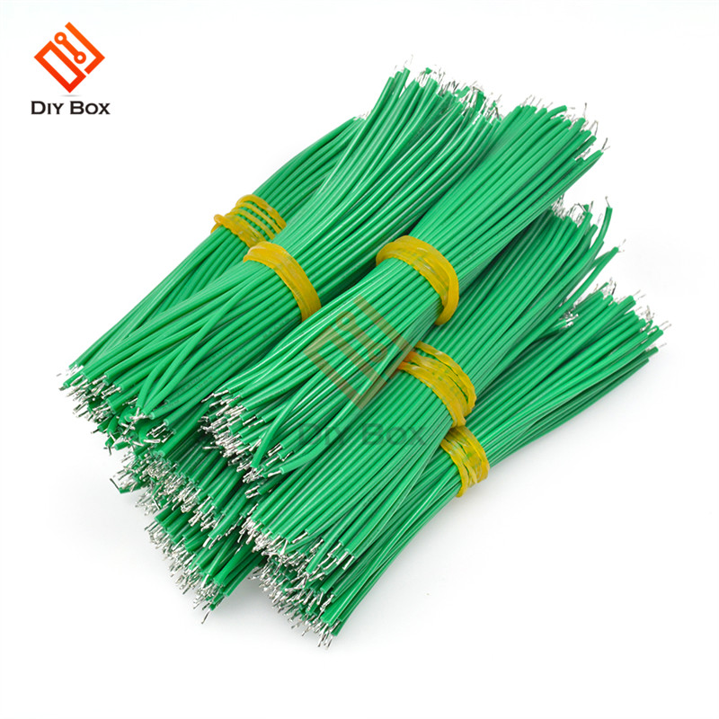 100Pcs/Lot Green 0.14 Mm Dual-Head Welding Wire 100mm 24AWG Tin Plated Solder Wire Connector Soldering Wire Cord Lead  DIY Electronic Welding Line String