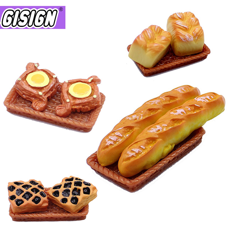 8pcs Mini Food Bread Slime Charms Supplies All For Slimes Additives Clay Dollhouse Decor Accessories Fake Croissant Craft Toys