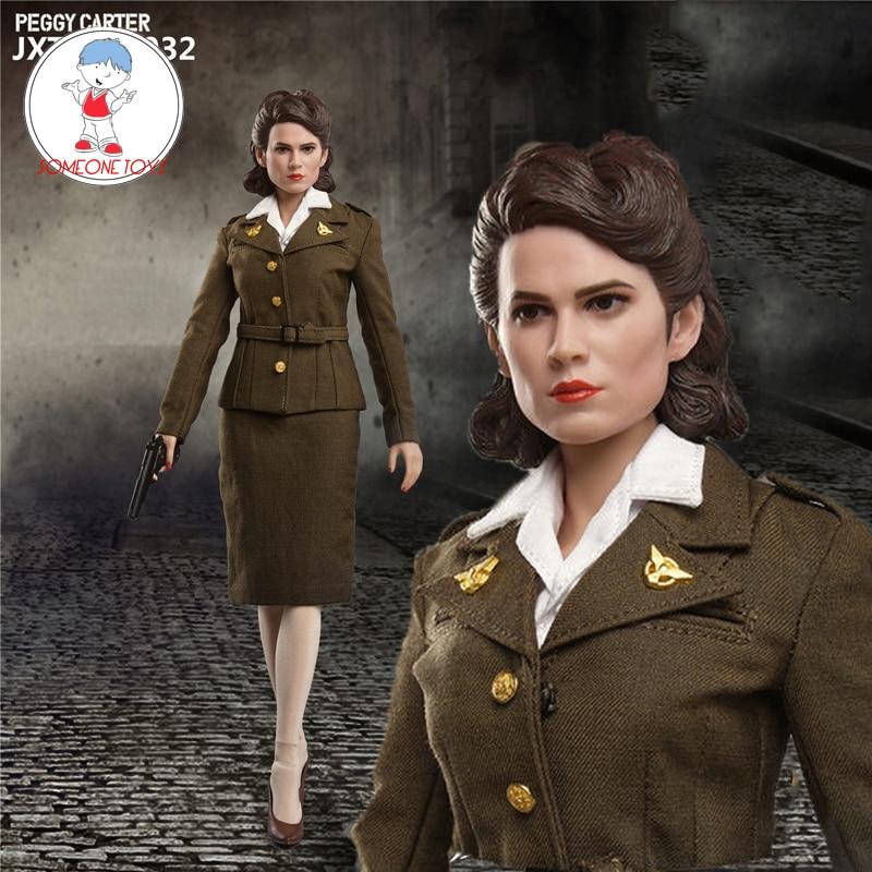 "1//6 Scale JXTOYS 032 Captain America Peggy Carter 12/"" Female Action Figure Toy"