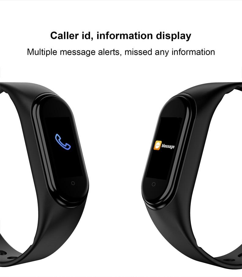 Hdf4b8bbe6cca49a8b433e297dd2059717 M4 Color Screen Smart Wristband Heart Rate Monitor Fitness Activity Tracker Smart Band Blood Pressure Music Remote Control