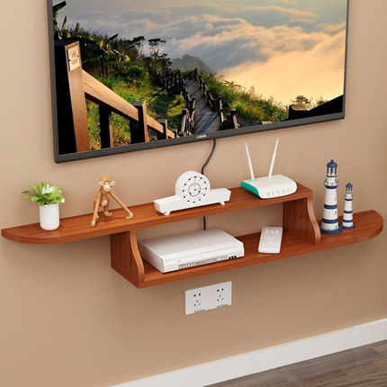 Wall hanger shelf free of punching wood holder for living room wall storage font b closet
