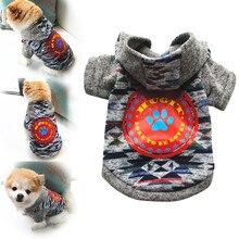 Одежда для домашних животных, цветная одежда с принтом кота, пальто для собак, рубашка, зимняя Толстовка# pingyou
