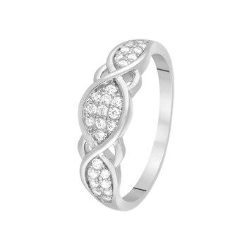 Кольцо из серебра с фианитами R00-04